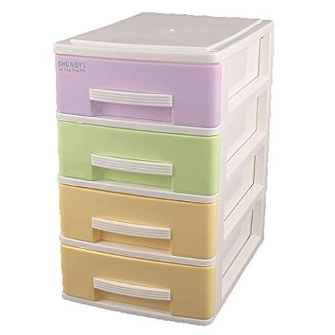 DealMux Haushalt Schlafzimmer Vier Schichten Design-Aufbewahrungsbehälter-Behälter Kabinett Bunte