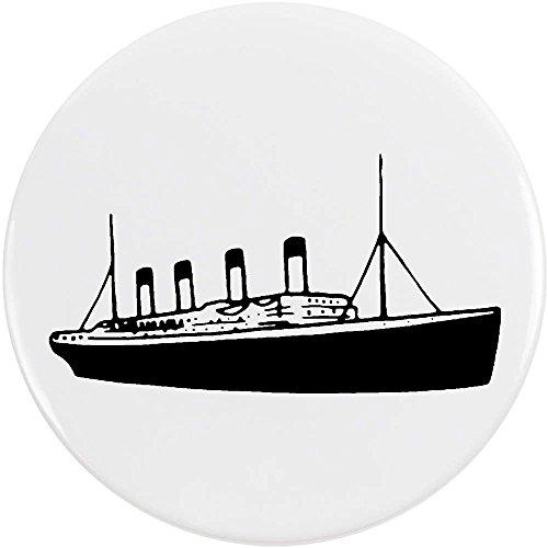 Azeeda 77mm 'Titanic Ship' Large Button Pin Badge (BB00043523)