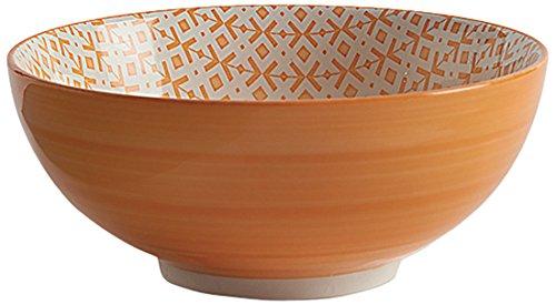 Fill 21347 Set aus 4 Steingutschalen, Kollektion Althea, Punkte und Kreuze, Orange (Kleine Keramik-kreuz)