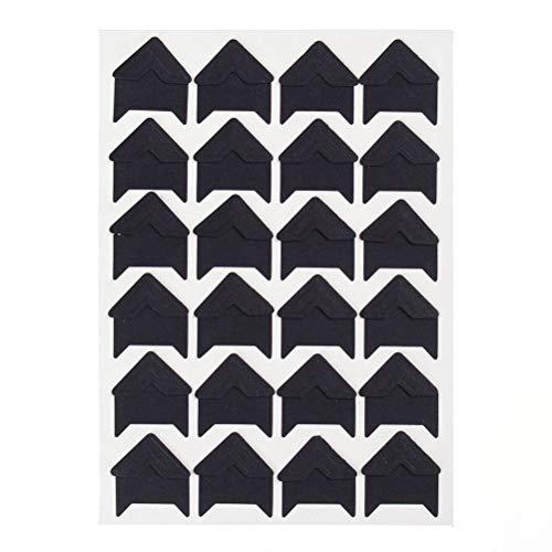 Yesallwas Foto-Ecken, 10 Bögen (240 Stück), Fotoecken, selbstklebend, für Scrapbooking, Fotoalben, Schwarz, 9x12.3cm(3.5x4.8 inch)