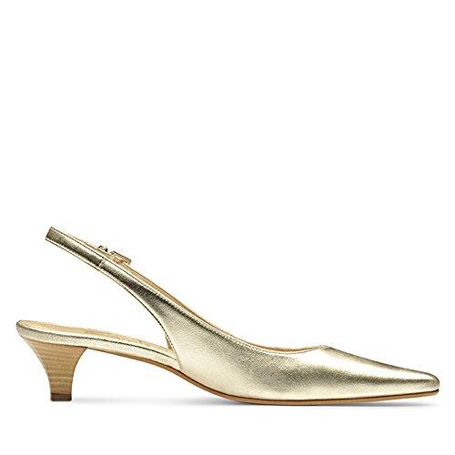 LIA escarpins femme cuir lisse couleur or