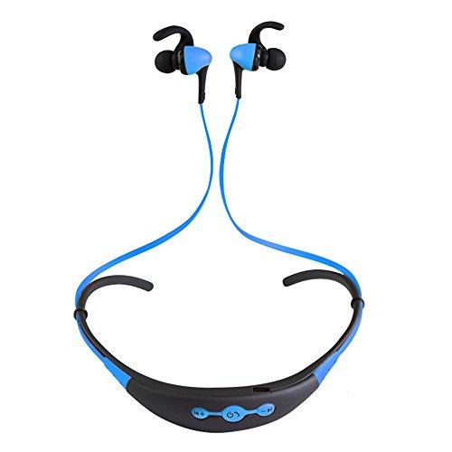 YAKOO Wireless Bluetooth 4.1 Kopfhörer (eingebautes Mikrofon) ist geeignet für Sport Business Fitness Reisen, Kopfhörer kompatibel mit jedem Smart-Gerät., Blau Earphones hedset