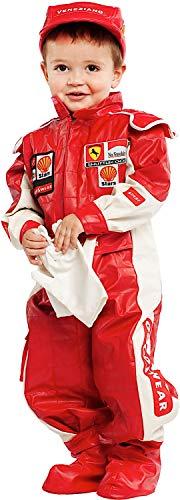 COSTUME di CARNEVALE da PICCOLO PILOTA DI F1 vestito per neonato bambino 0-3 Anni travestimento veneziano halloween cosplay festa party 53154 Taglia 2