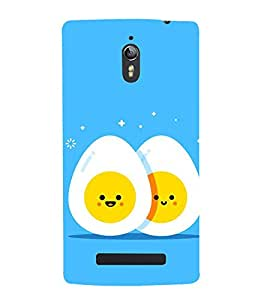 Fiobs Designer Back Case Cover for Oppo Find 7 :: Oppo Find 7 QHD :: Oppo Find 7a :: Oppo Find 7 FullHD :: Oppo Find 7 FHD (Cute Eggs Faces Friends 2 )