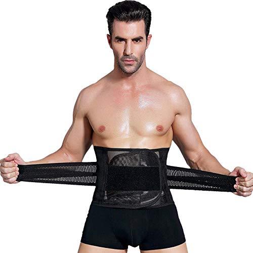 INITIALD Bauchweggürtel Gewichtsverlust Gürtel,Sportgürtel, Herren Bauchgürtel Sportgürtel @ Black_XXL,Atmungsaktive Fettverbrennung Schweiß Weight Loss Body Shaper