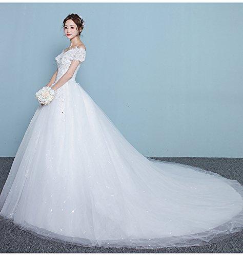 SHA Ein-Schulter-Hochzeitskleid Koreanische Braut Verheiratet Großen Garten War Dünn Langen...
