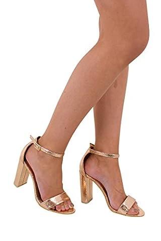 Millie Rose Gold High Heels, 4