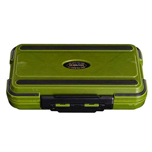 SYN Angelzubehör-Box, Köderbehälter, langlebiges Angelzubehör, rostfrei, multifunktional, Kunststoff, eingebaute Schalter, 6 Einsätze, Wasserdichte Mehrfachfächer