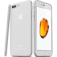 TOZO ® Para iPhone 7 Plus Funda [0.35mm] Ultra-Thin [Perfect Fit] El más delgado del mundo duro Plustect Back Case Cover [Semitransparente] Ligero para iPhone 7 Plus 5.5 pulgadas [Mate Frost Blanco]