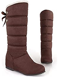 ZHZNVX HSXZ Scarpe donna Nabuck Pelle PU molla Comfort caduta neve Stivali Stivali scarpe tacco piatto Round Toe...