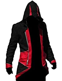 Assassin's Creed 3 Faux Leather Jacket in Black & Red colour= Sale Sale Start from €45