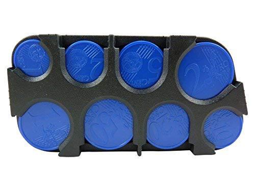 54a5551bc4 Scatola porta monete, per organizzare le monete, in plastica, Nero (nero)