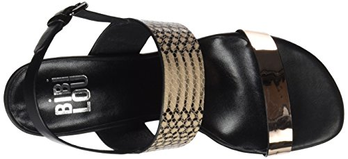 bibi lou - Sandalia T.65 Tiras Animal Print Y Metalizada, Sandali con cinturino Donna arancione (rame)