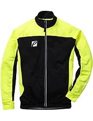 Elite Cycling Project Nybro chaqueta de ciclismo chaqueta manga larga ciclismo Jersey, hombre, color verde y negro, tamaño large