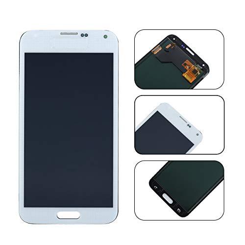 YHX-OU Für Samsung Galaxy S5 I9600 SM-G900 G900F LCD Display Touchscreen Ersatz Bildschirm mit Komplett Werkzeug (Weiß) (Samsung Für Lcd S5 Weiße Galaxy)