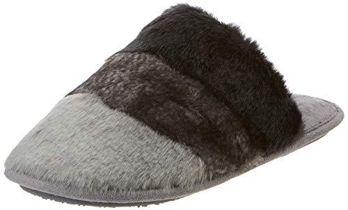 Isotoner Faux Fur Mule Slippers, Pantoufles Femme