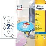 Avery Zweckform Etiketten Inkjet 117mm glossy VE=40 Stück weiß