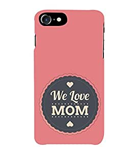 Fiobs Designer Back Case Cover for Apple iPhone 7 (Heart Love Pyaar Ma Mammi Hum Sab T.V.)