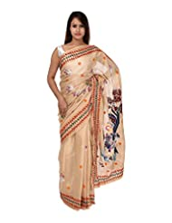 A1 Fashion Women Silk Brown Saree With Blouse Piece - B00VUS283S
