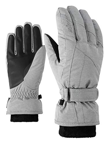 Ziener Damen KARMA GTX Gore plus warm lady glove Ski-handschuhe / Wintersport | wasserdicht, atmungsaktiv, sehr warm, grau (light melange), 7
