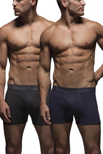 mens-2-pack-jeep-cotton-plain-fitted-key-hole-trunk-boxer-shorts-navy-charcoal-xl