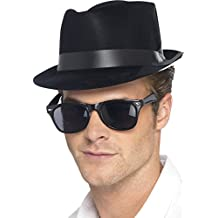 Black Flock Blues Brothers Style Hat - Pack of 2 2c721a7eb7dc