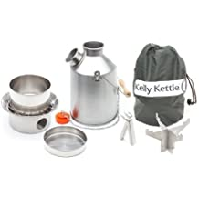 Scout Kelly kettle - acero inoxidable KIT básico (1,2 litros kettle + Set de cocina de acero + base de acero) modelo nuevo - todas construcción soldada.