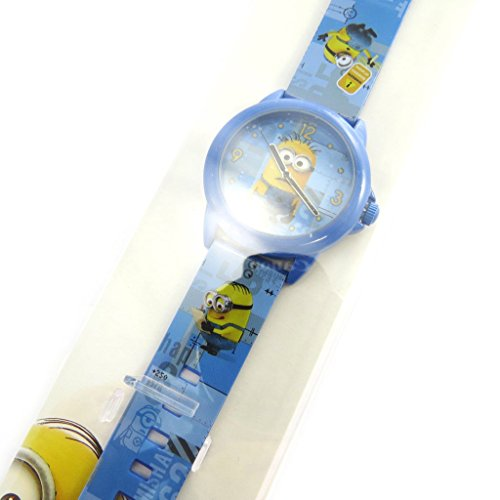 Reloj de pulsera analógico de Los Minions en azul