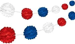 Amscan PPP Guirlande en papier Rouge/blanc/bleu