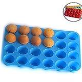 WeieW Elegante Accesorios para el hogar Mini Muffin Tray Silicona 24löch ernon de Stick...
