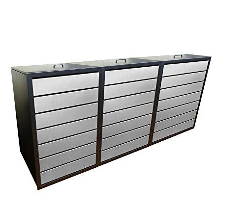 Mülleimerschränke, Modell Magnat ES für drei 240 Liter Tonnen