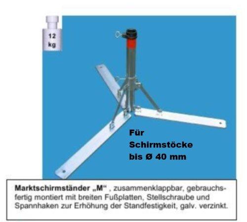 Nexos trading pied de parasol en 4 mm de diamètre en acier de allemand sTABIELO ®-support pour parapluie pliable pour parasols d'un diamètre max. de 40 mm-nexos trading pied de parasol-porte-parapluie-fabriqué en allemagne - 40 m avec large semelle holly produits sTABIELO ®-innovation fabriqué en allemagne-holly-sunshade ®-prix aussi longtemps que les stocks en bade-wurtemberg