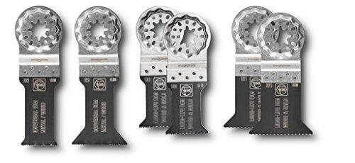 FEIN E-Cut Sägeblätter Set mit Bi-Metall-Verzahnung (für Multimaster, 6 Stück), 1 Stück, 35222952180