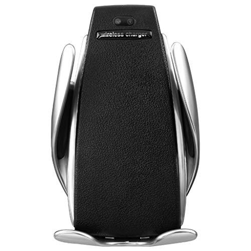 Autoladegerät Autoschnelles Ladegerät Kabelloses, Automatisches drahtloses schnell aufladender für Samsung S10 / Plus Telefonhalterung,Perfekt für Verwendung von GPS beim Fahre (Black)
