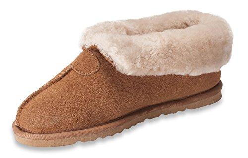 Nordvek - Stivali pantafole donna 100% vera pelle - Suola EVA - # 413-100 Marrone chiaro