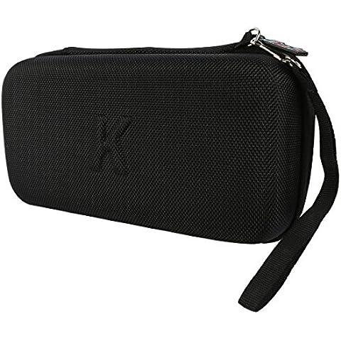 Khanka Duro EVA Viaje Estuche Bolso Funda portátil Case para Sony Console PlayStation Vita PSVITA PS Vita and PS Vita Slim (PSV 2000) Negro - bolsillo de malla para bolsillo de malla para