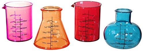 4Chemie Science Lab Shooter Schnapsgläser Set Drink Cup Funky Cocktail Party Bar Fun
