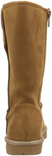 Skechers Glamslam Button Beauties, Desert Boots Fille Beige (Cnhp Marron/Rrose Foncée)
