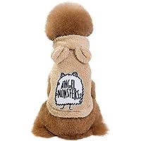 Keepwin Fashion Bequeme Plüsch Hooded Sweatshirts Hundebekleidung Welpen Haustier Warme Kleidung