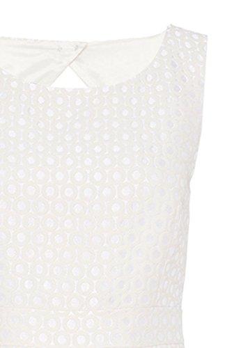 HALLHUBER Robe dos-nu en jacquard Blanc Cassé