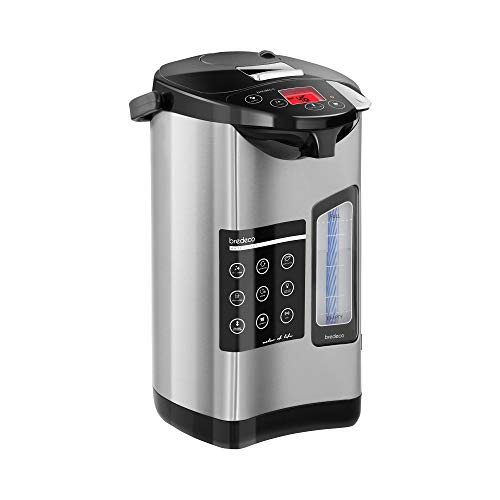 Bredeco Thermopot Heißwasserspender BCTP-5-L (5 L, 680 W, Edelstahl, Temperatur: 40-100 °C, LCD-Display)