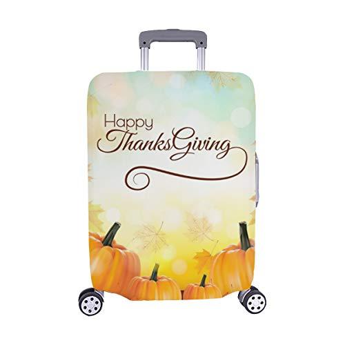 appy Thanksgiving Banner Herbst Gemüse Staubschutz Trolley Protector case Reisegepäck Beschützer Koffer Abdeckung 28,5 X 20,5 Zoll ()