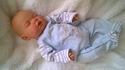 Preisvergleich Produktbild Kinderfreundlich, Reborn Baby-Puppe MOLLY, 48,3cm Lange, schwere, lackiert, Hair & Magnetischer Schnuller–Boy–ycn Puppen