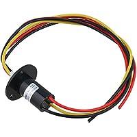 cnbtr actual conductores circuitos Slip Anillo 500RPM colector de energía 240V CA/D anillo 22mm, negro
