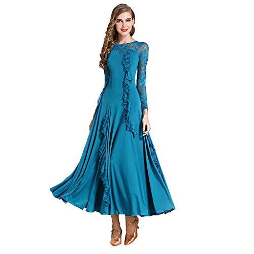Kostüm Tanz Peacock - YTS Pfau-blaues Sommer-modernes Tanz-Kleid-Kleid-Kostüm (Farbe : Peacock Blue, größe : M)