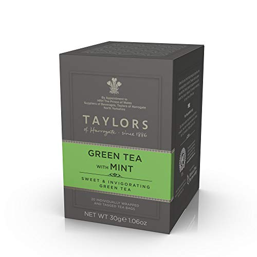 Taylors of Harrogate Green Tea with Mint 20 Individually Wrapped Tea Bags