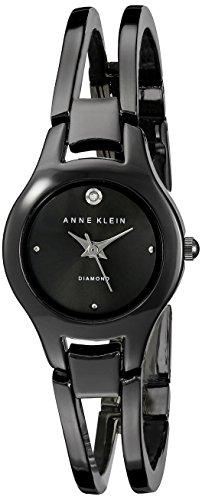 Anne Klein Femme AK/1915gygy Diamond-Accented Gunmetal Bracelet Montre