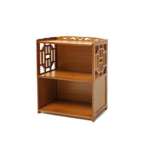 Bibliothèque Sexy Classeur en Bambou à 2 Niveaux Simple Multifonction Antique Petite Libre Armoire de Rangement Brun (Taille : 70 * 29 * 70cm)