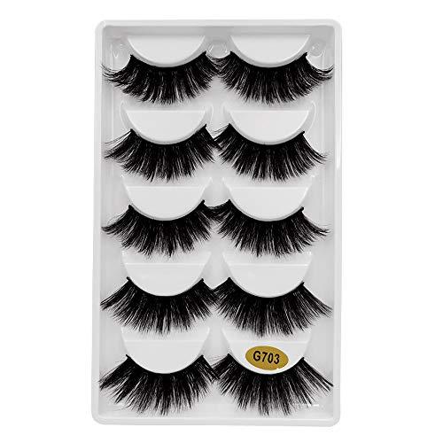 Mitlfuny Gesundheit Und SchöNheitDIY Dekoration 2019,5 Paar 3D Natürliche Dicke Falsche Wimpern Wimpern Makeup ()