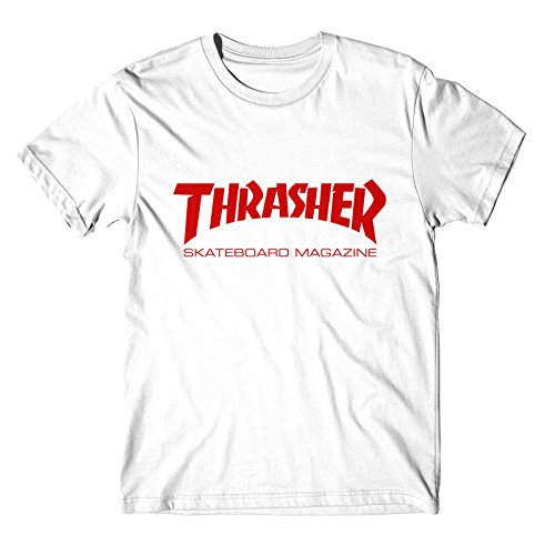 T-shirt thrasher rosso red (m, bianco)